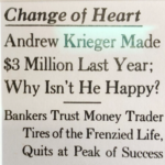 Photo Caption: Headline in the Wall St. Journal about Andy