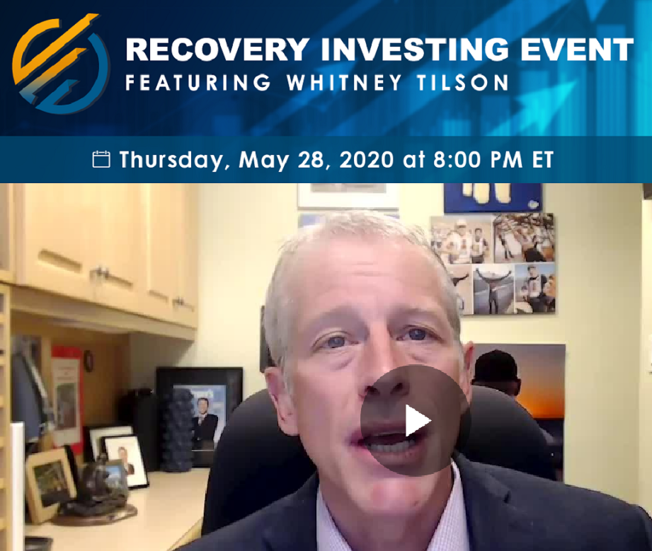 Recovery Investing Event featuring Whitney Tilson is May 28, 2020