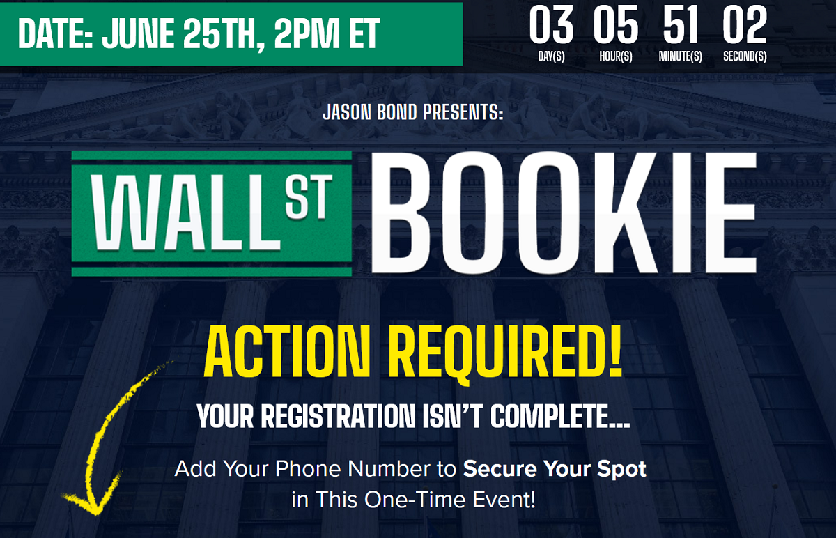 Jason Bond's Wall St Bookie – FREE Options Trading Event with Jason Bond
