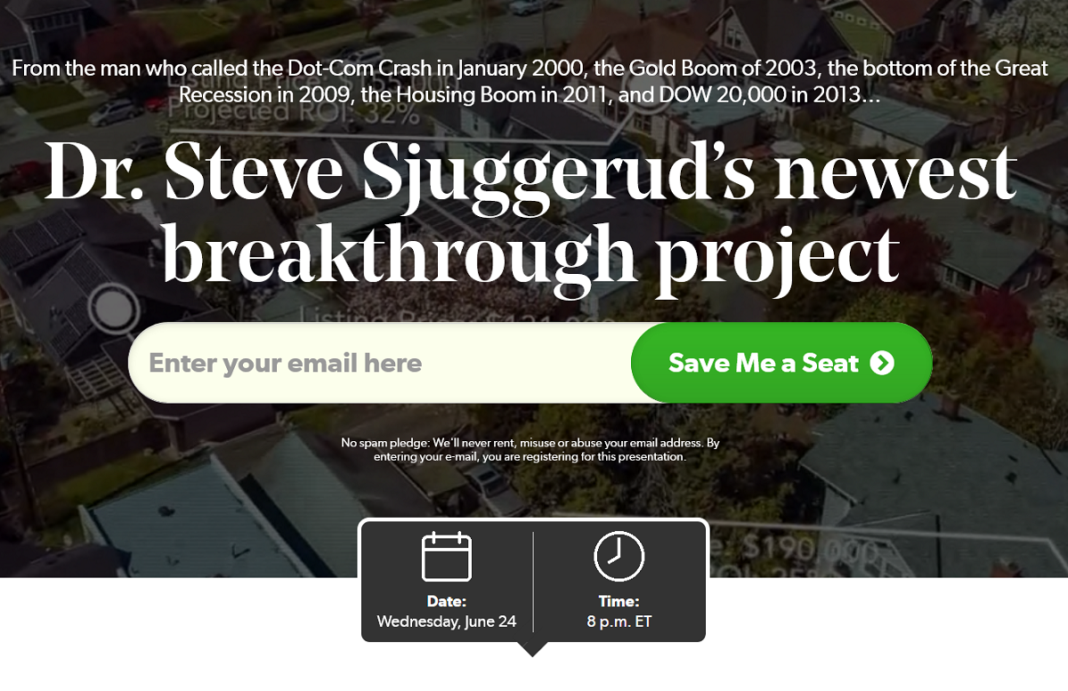 Project Real Estate – Is Dr. Steve Sjuggerud's Investment Approach Legit?