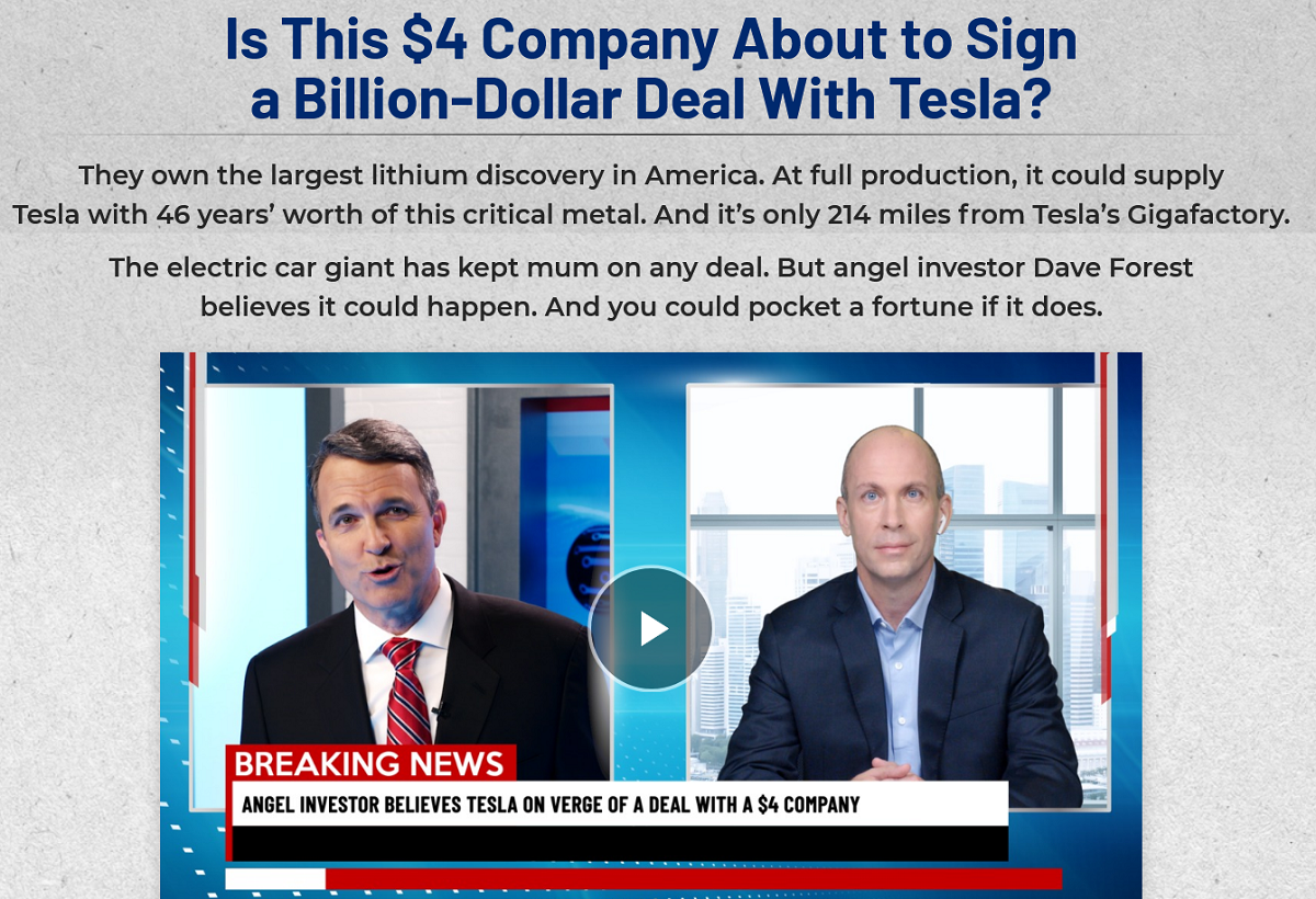 Strategic Investor Review – Dave Forest $4 stock company on the verge of a multi-billion dollar deal with Tesla?