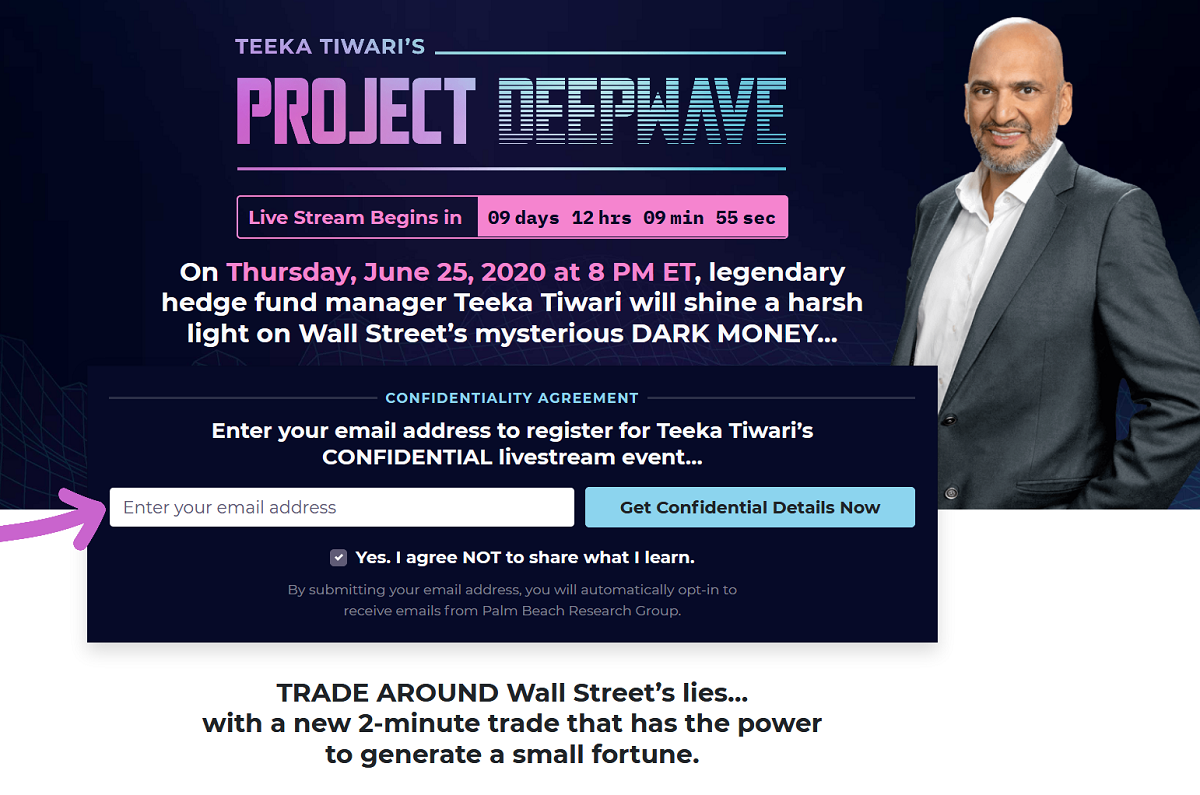 Teeka Tiwari's Project Deepwave Review – Is it Legit?