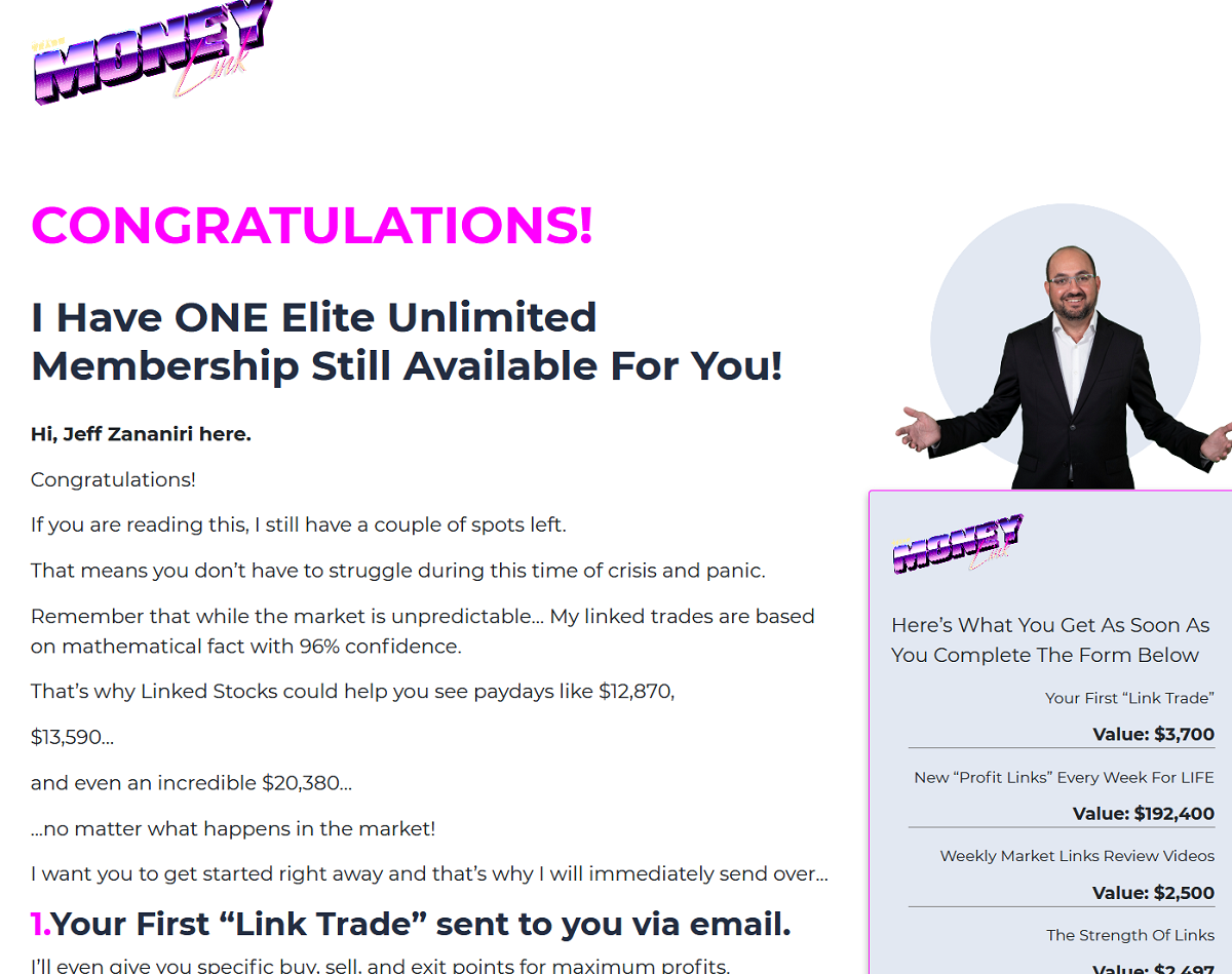 Jeff Zananiri's Link Trade Profits Review - Legit or Scam?