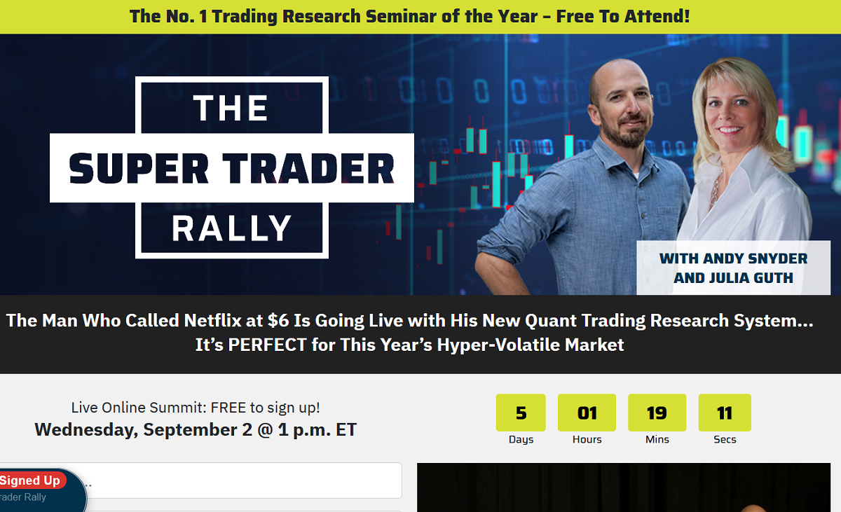 The Super Trader Rally: Andy Snyder Reveals His Brand New Trading Strategy