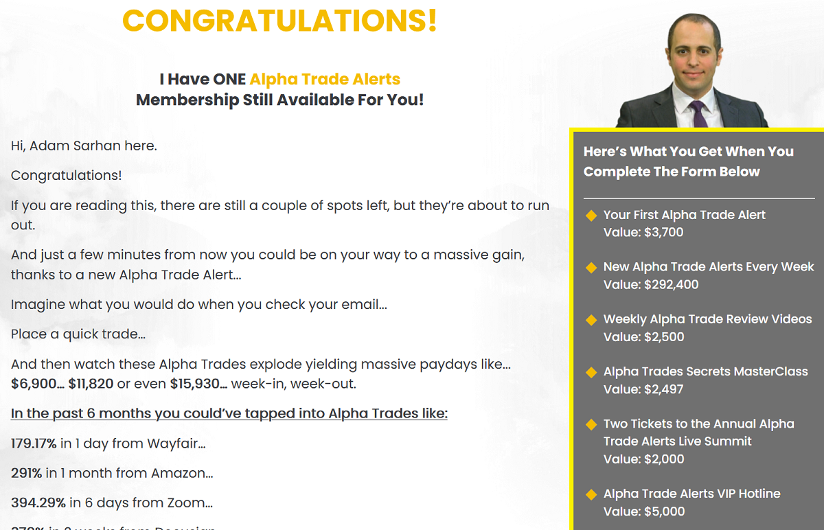 Alpha Trade Alerts Review: Adam Sarhan Alpha Line System Revealed