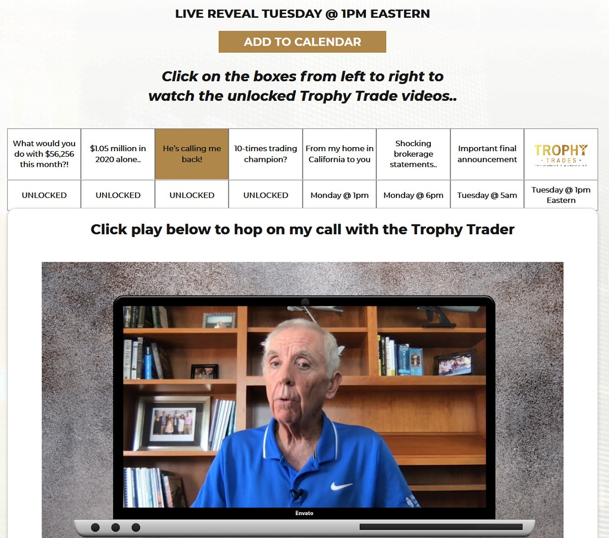 Chuck Hughes Trophy Trader Review
