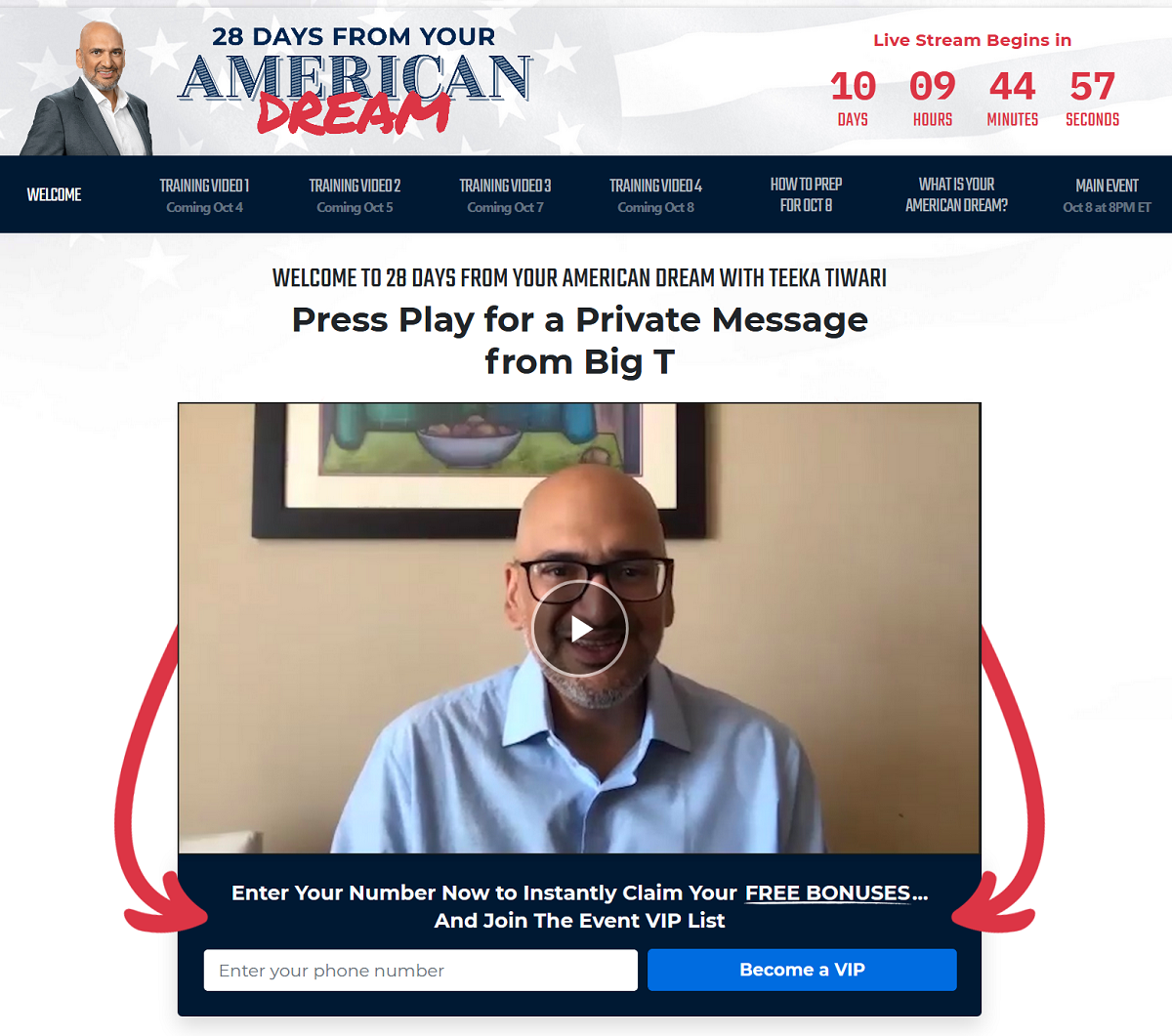 Teeka Tiwari's 28 Days From Your American Dream Event: Teeka Tiwari Reveals a New Way To Make Money From Blue-Chip Stocks