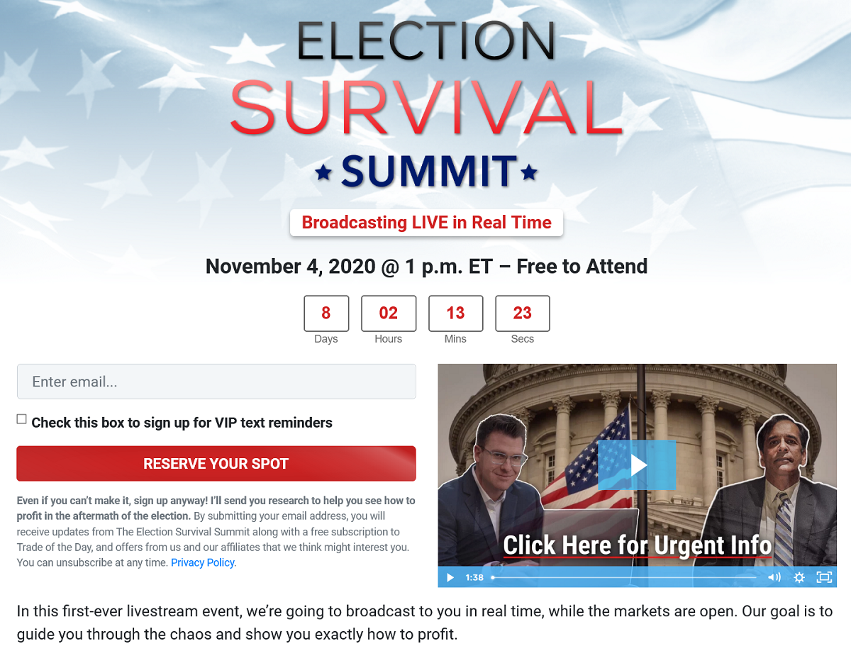 The Election Survival Summit