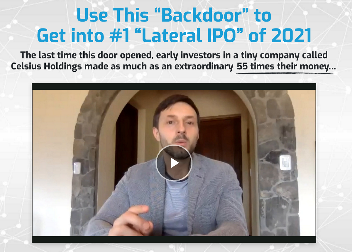 "Nick Giambruno's #1 ""Lateral IPO"" of 2021 Report: Crisis Investing Newsletter"