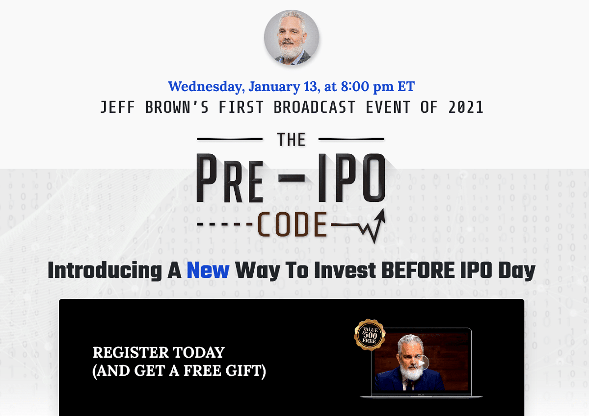 Jeff Brown's Pre-IPO Code Review