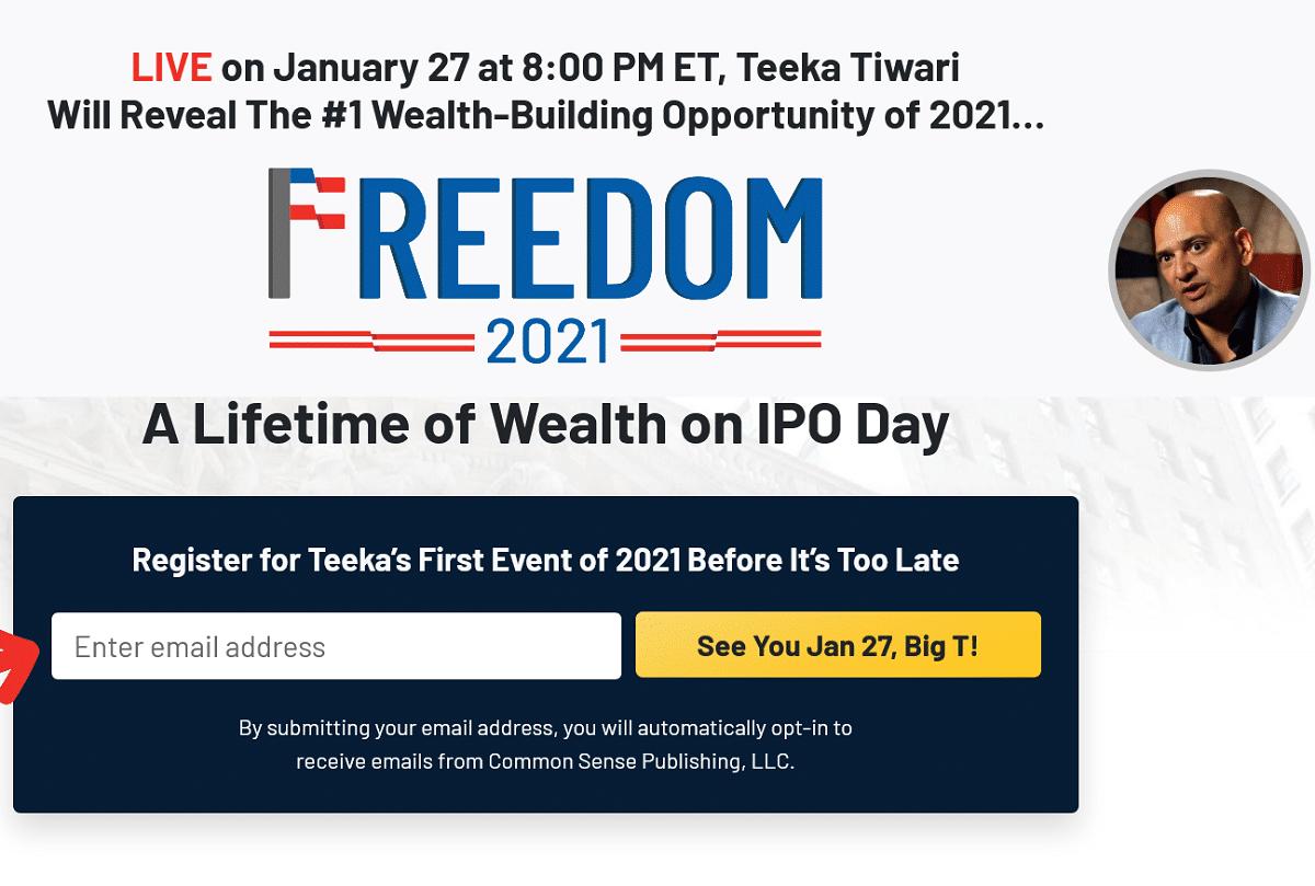 Teeka Tiwari Freedom 2021 Summit
