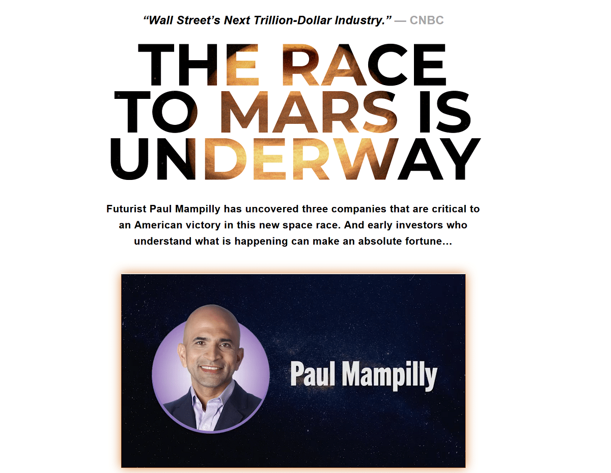 Paul Mampilly's 3 Hottest Space Stocks to Buy Right Now