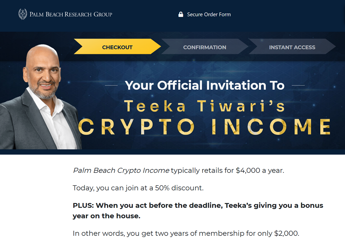 "Palm Beach Crypto Income Review: Teeka Tiwari's ""Tech Royalty"" Buy Alert"