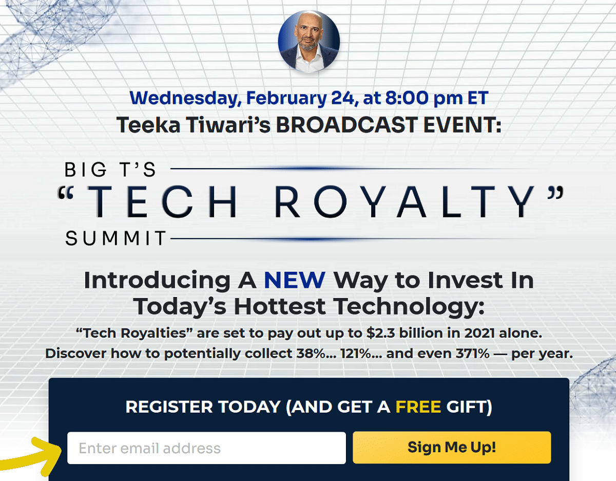 Teeka Tiwari's Tech Royalty Summit – Is It Legit?