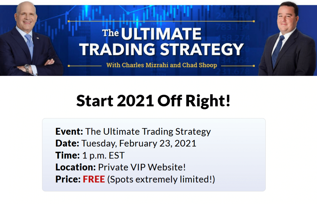The Ultimate Trading Strategy with Charles Mizrahi and Chad Shoop – Legit Or No?