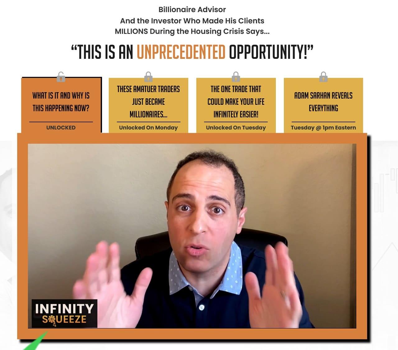 Adam Sarhan Infinity Squeeze Review
