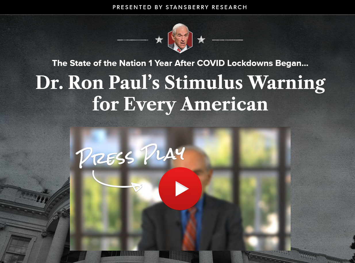 Dr. Ron Paul Issues Important New Warning