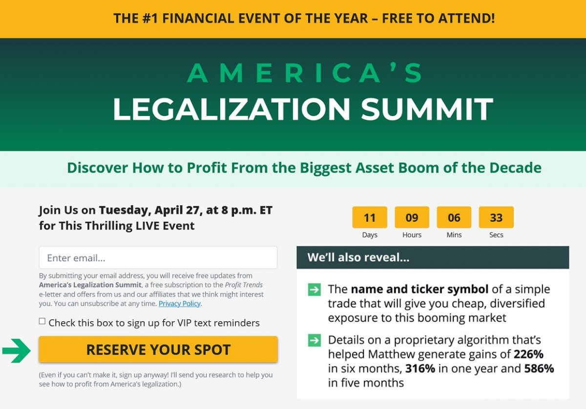 Matthew Carr's America's Legalization Summit – Is It Legit?