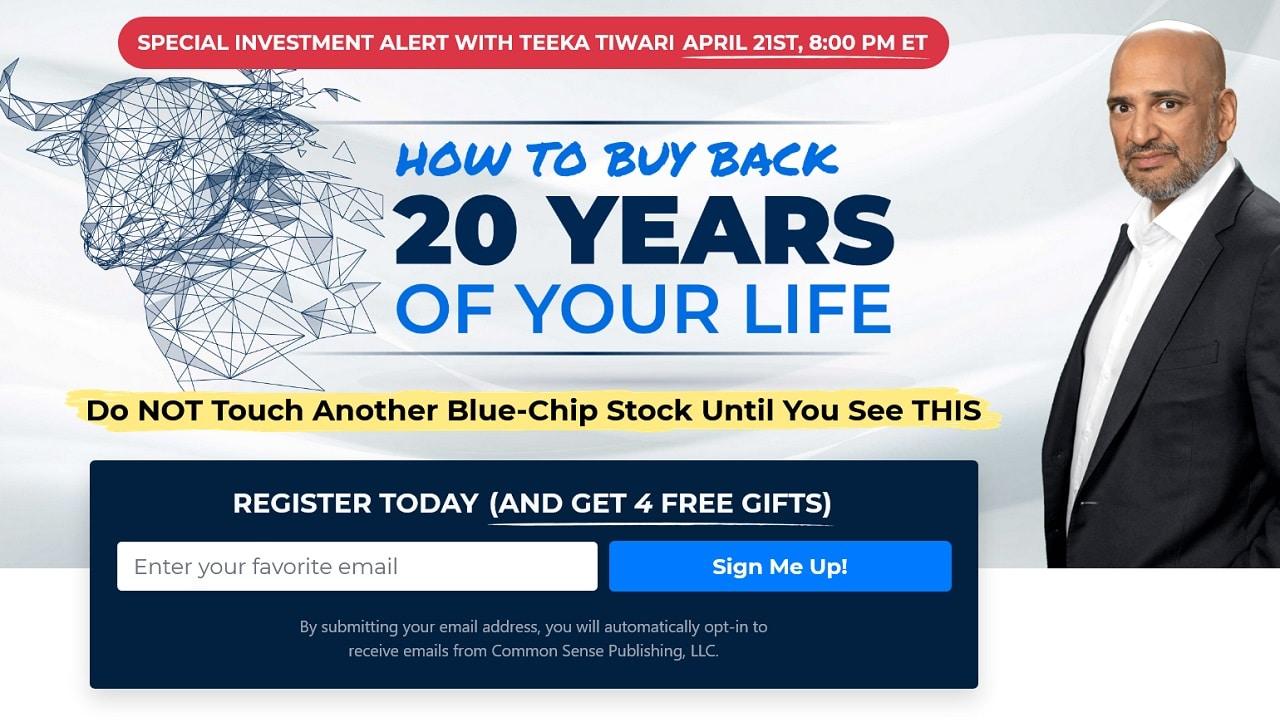 Teeka Tiwari's How To Buy Back 20 Years Of Your Life Summit