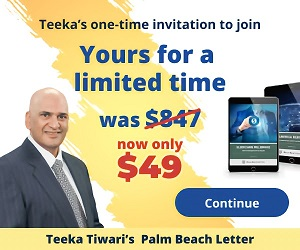 Teeka Tiwari Palm Beach Letter Review