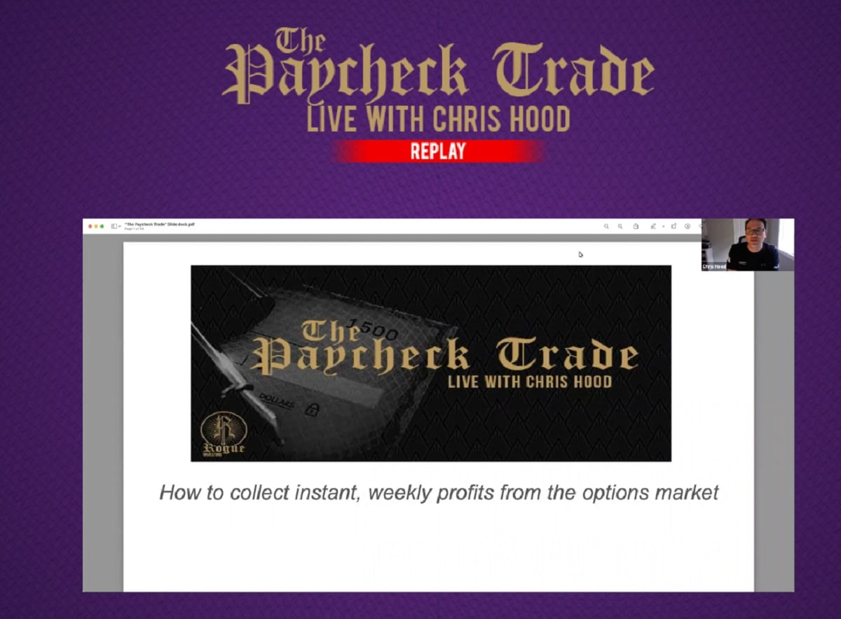 Chris Hood Alpha Hunters Review: Paycheck Trade Revealed
