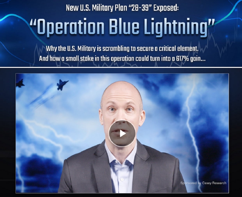 Dave Forest Operation Blue Lightning