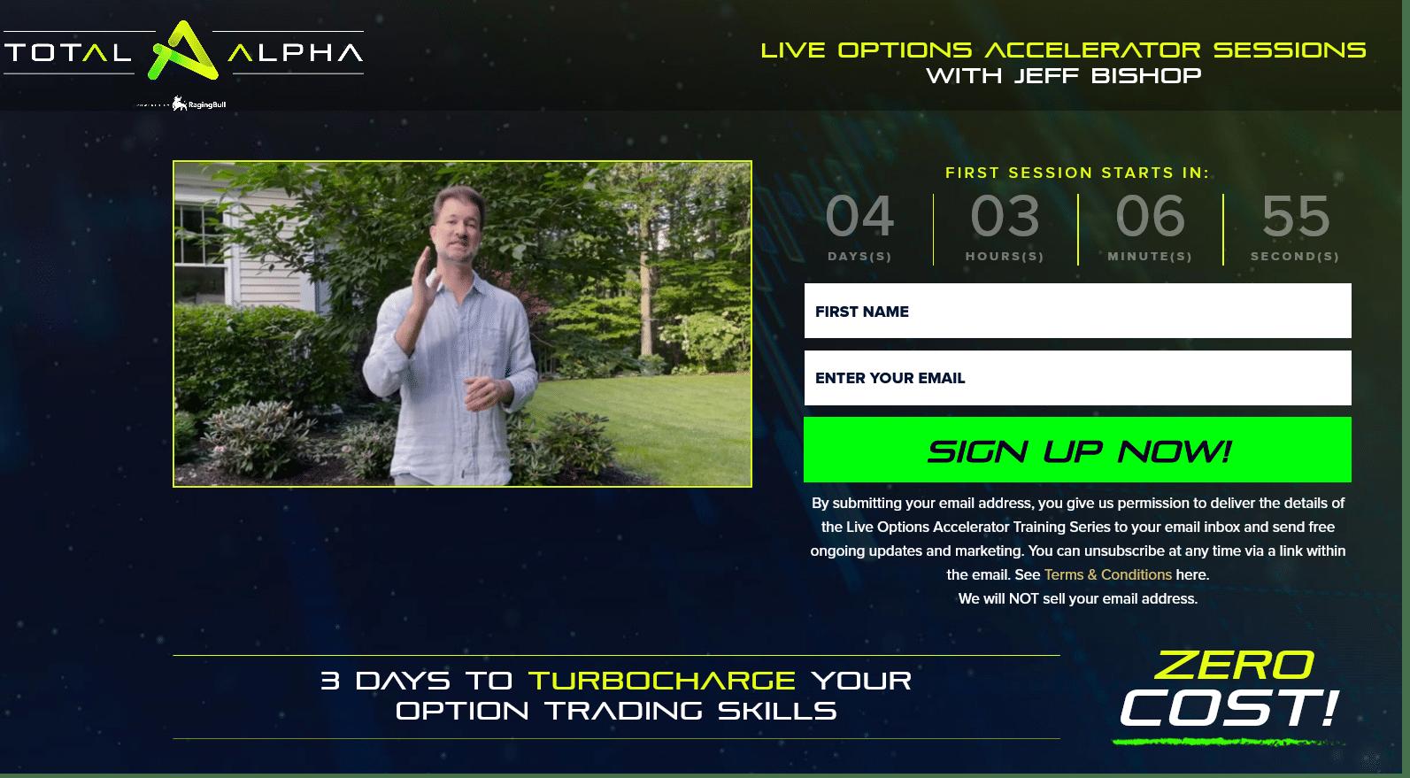 Jeff Bishop's Options Trading Accelerator Workshop