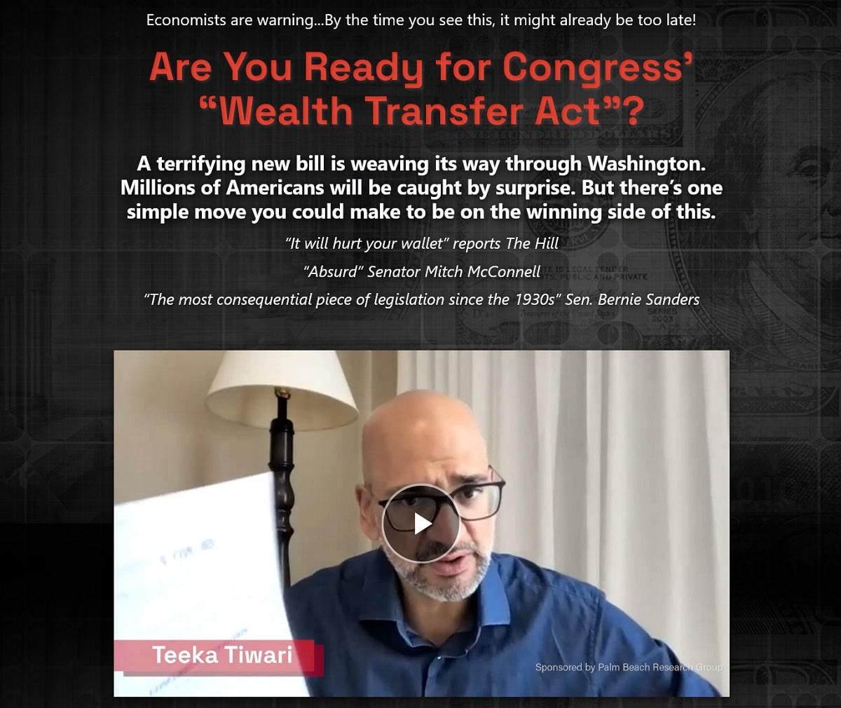 Teeka Tiwari's Biggest Wealth Transfer