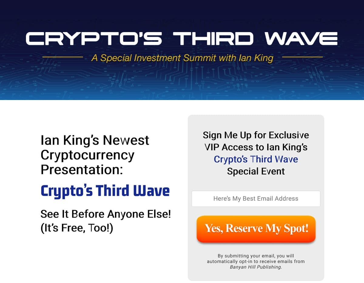 Ian King's Crypto's rd Wave Fortunes